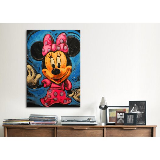 iCanvas Mickey 003 Canvas Wall Art by Rock Demarco