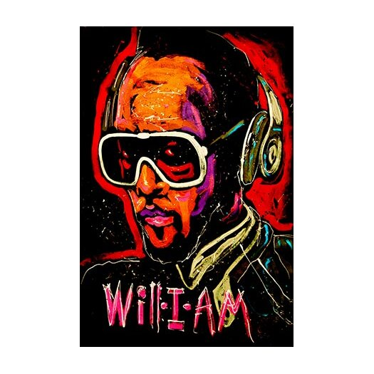 iCanvas Will I Am 001 Canvas Print Wall Art