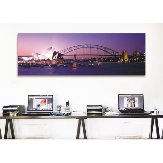 iCanvas Panoramic Opera House Harbour Bridge Sydney Australia Photographic Print on Canvas