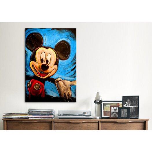 iCanvas Mickey 001 Canvas Wall Art by Rock Demarco