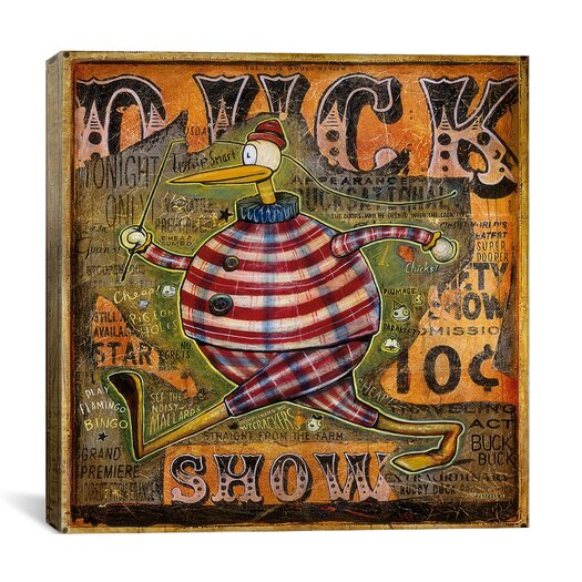 iCanvas 'Duck Show' by Daniel Peacock Vintage Advertisement on Canvas