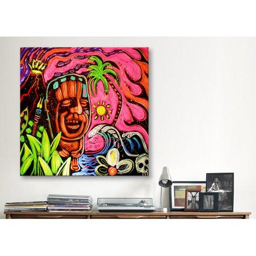 iCanvas John Demaio Tiki 001 Canvas Print Wall Art