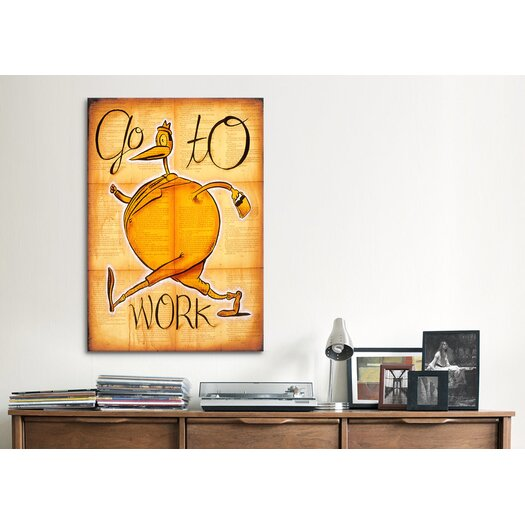 iCanvas 'Go to Work' by Daniel Peacock Painting Print on Canvas