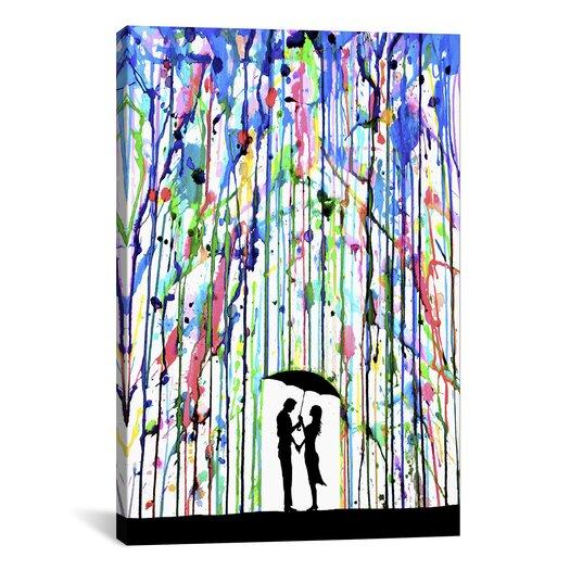 iCanvasArt 'Pour Deux' by Marc Allante Painting Print on Canvas