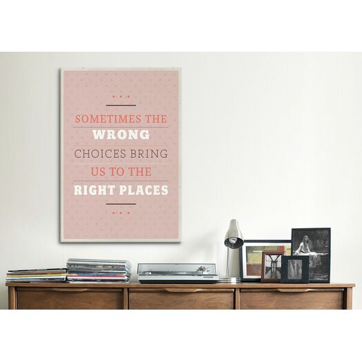 iCanvas American Flat Right Places Textual Art on Canvas