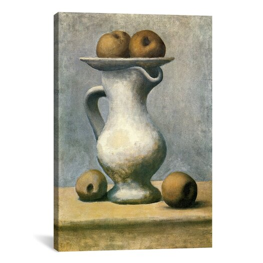 iCanvas Picasso Still Life with A Pitcher And Apples Canvas Print Wall Art