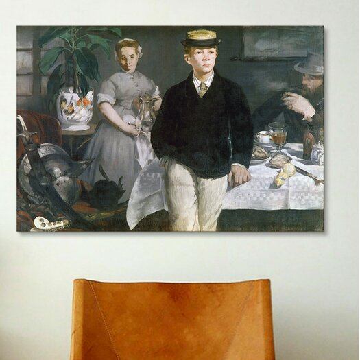 iCanvasArt 'Luncheon in the Studio' by Edouard Manet Painting Print on Canvas