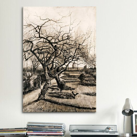 iCanvas 'The Parsonage Garden at Nuenen in Winter' by Vincent Van Gogh Painting Print on Canvas