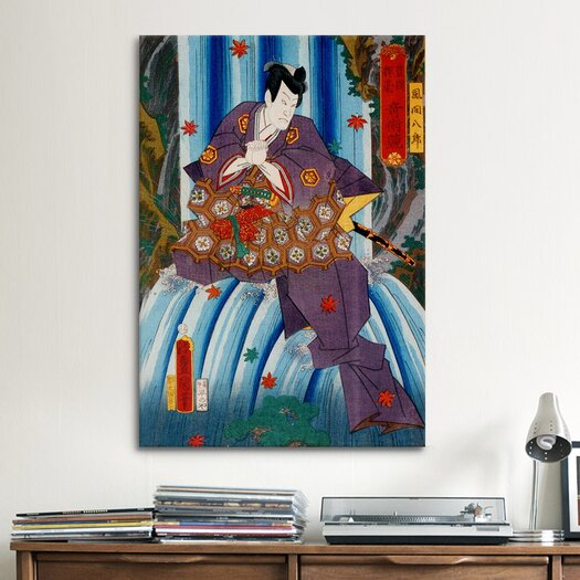 iCanvas Japanese 'Hachiro Kazama' by Kunisada (Toyokuni) Graphic Art on Canvas