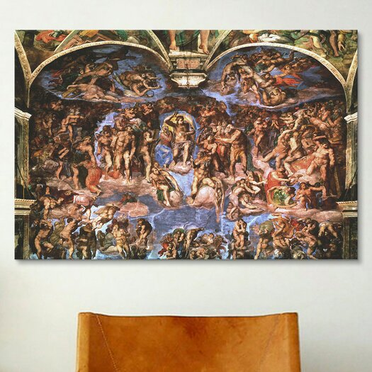 iCanvasArt 'Sistine Chapel: The Last Judgement' by Michelangelo Buonarroti Painting Print on Canvas