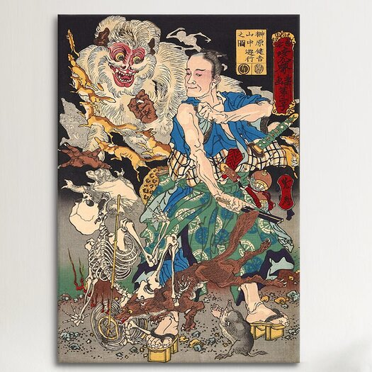 iCanvas Japanese Art 'Sakakibara Kenkichi' by Kawanabe Kyosai Painting Print on Canvas