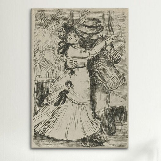 iCanvas 'La Danse a la Campagne' by Pierre-Auguste Renoir Painting Print on Canvas