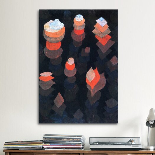 iCanvas 'Growth of the Night Plants' by Paul Klee Painting Print on Canvas