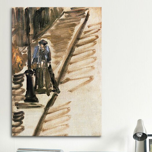 iCanvas 'Knife Grinder (Rue Mosnier)' by Edouard Manet Painting Print on Canvas