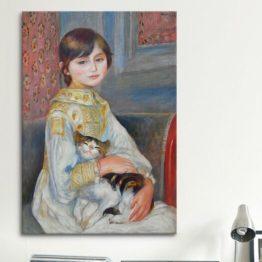 iCanvas 'Julie Manet with Cat 1887' by Pierre-Auguste Renoir Painting Print on Canvas