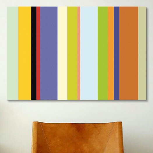iCanvas Striped Art For the Love of Color Graphic Art on Canvas