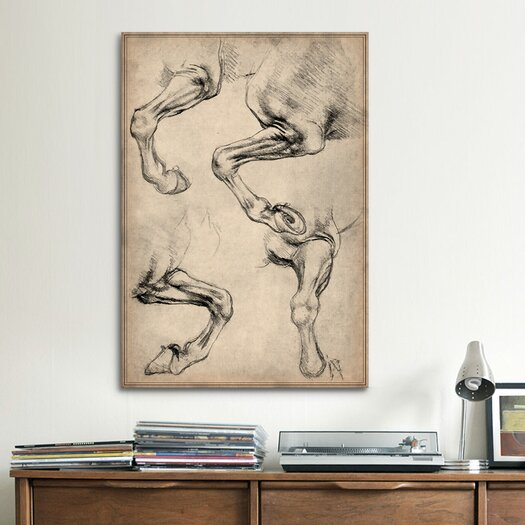 iCanvas 'Leonardo's Horse' by Leonardo Da Vinci Painting Print on Canvas