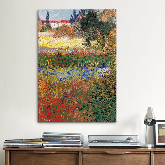 iCanvas 'Flowering Garden' by Vincent van Gogh Painting Print on Canvas