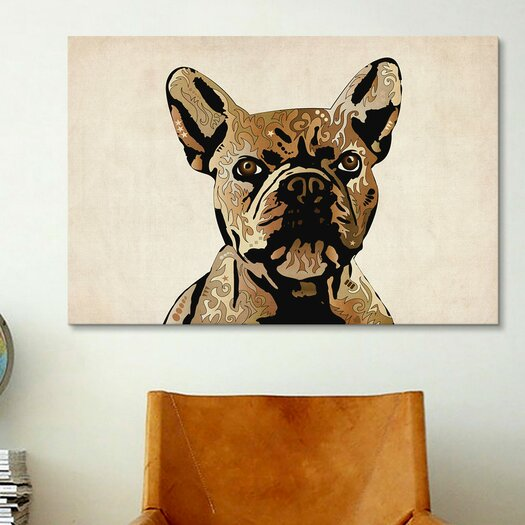 iCanvas 'French Bulldog' by Michael Tompsett Graphic Art on Canvas