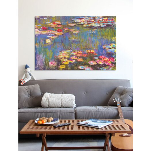 iCanvasArt 'Water Lilies, 1916' by Claude Monet Painting Print on Canvas