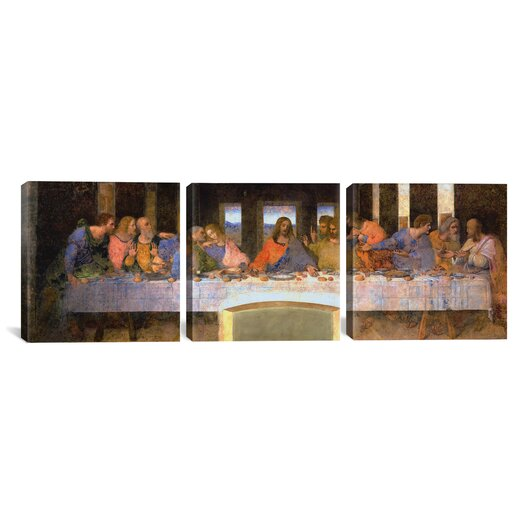 iCanvas Leonardo da Vinci The Last Supper 3 Piece on Canvas Set
