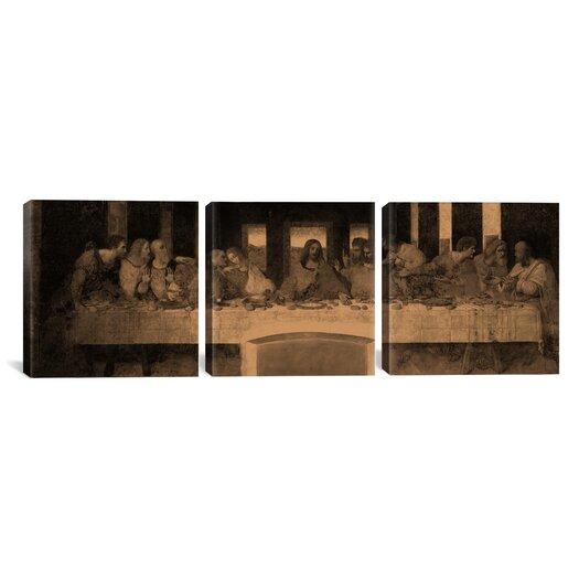 iCanvas Leonardo da Vinci The Last Supper IV 3 Piece on Canvas Set