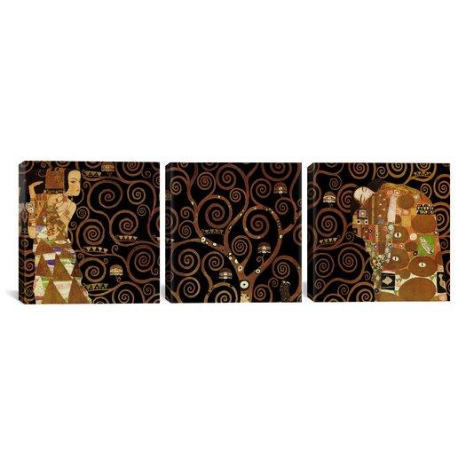 iCanvasArt Gustav Klimt The Tree of Life II 3 Piece on Canvas Set