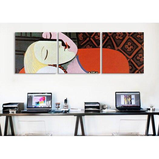 iCanvasArt Historical Fine Art The Dream Pablo Picasso 3 Piece on Canvas Set