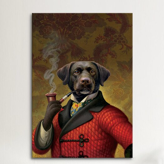 """iCanvas """"The Red Beret (Dog)"""" Canvas Wall Art by Dan Craig"""
