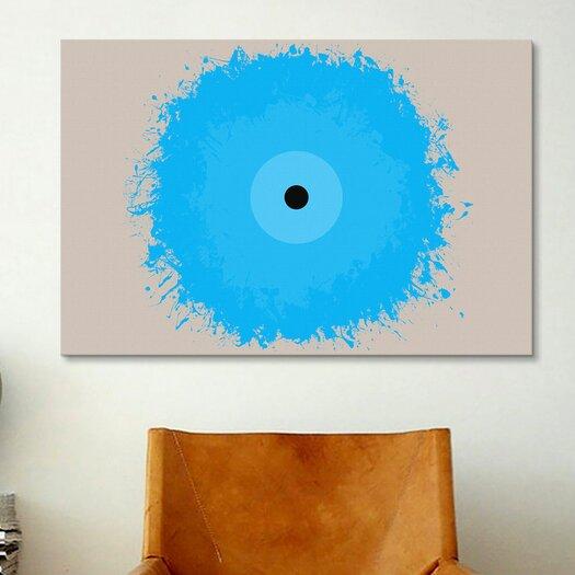 iCanvas Modern Art Cool Blue Graphic Art on Canvas
