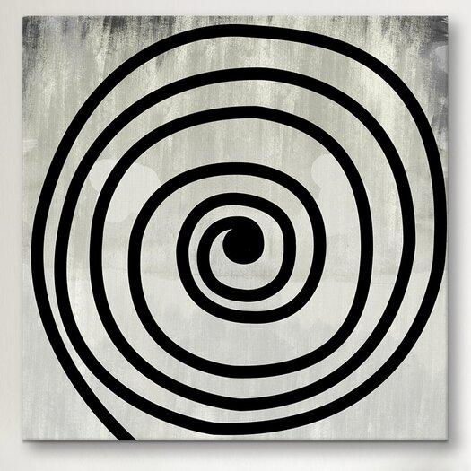 iCanvas Modern Art Mid Century Modern Swirl Painting Print on Canvas