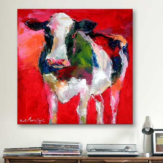 iCanvas Cow by Richard Wallich Graphic Art on Canvas