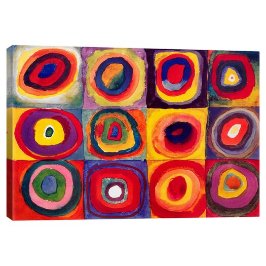 "iCanvas ""Squares with Concentric Circle"" Print Art on Canvas by Wassily Kandinsky"