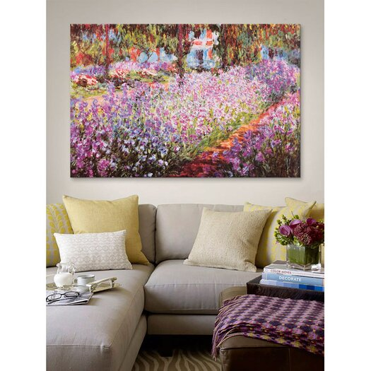 iCanvas Jardin De Giverny by Claude Monet Painting Print on Canvas