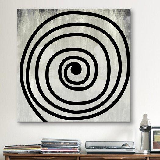 iCanvas Modern Art Mid Century Swirl Painting Print on Canvas