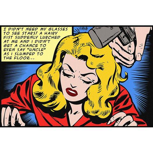 iCanvasArt Roy Lichtenstein Slumped to the Floor Graphic Art on Canvas in Blonde