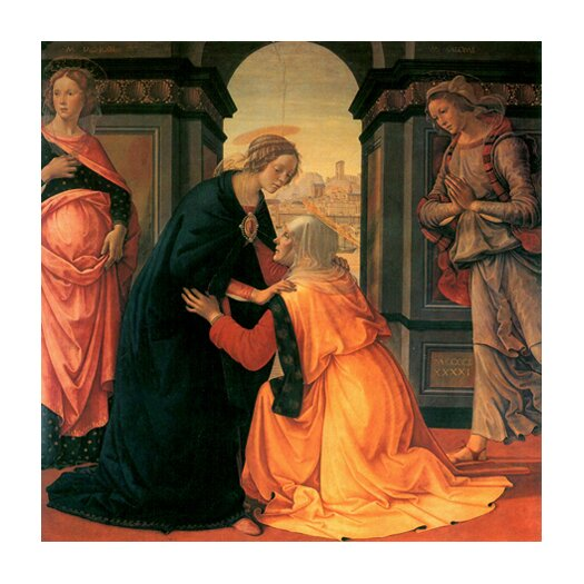 "iCanvasArt ""The Visitation"" Canvas Wall Art by Domenico Ghirlanaio"