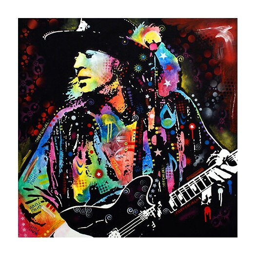 iCanvas 'Stevie Ray Vaughan' by Dean Russo Graphic Art on Canvas