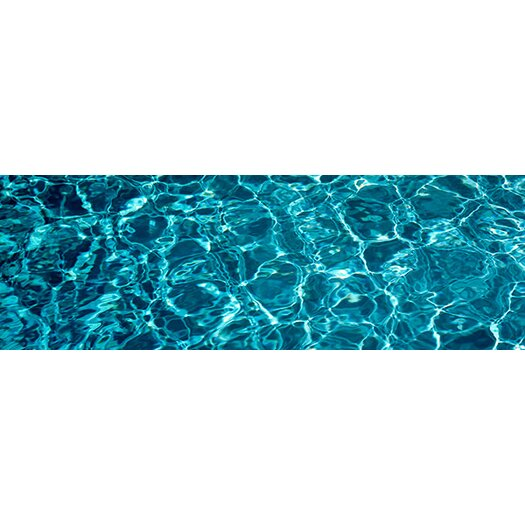 iCanvas Panoramic Swimming Pool Ripples Sacramento California Photographic Print on Canvas