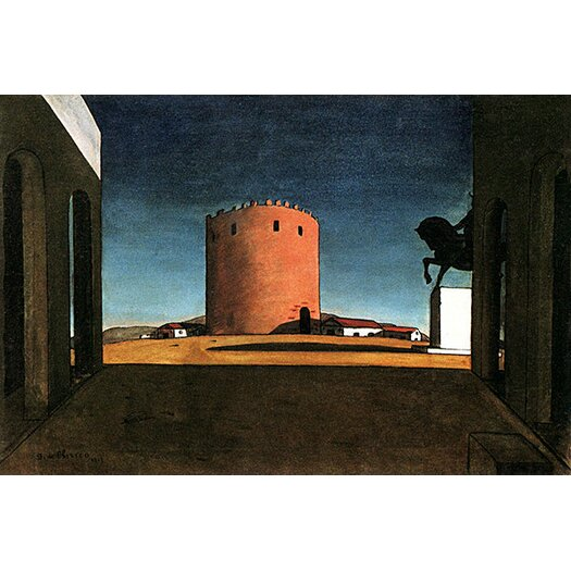 "iCanvas ""The Red Tower"" Canvas Wall Art by Giorgio de Chirico"