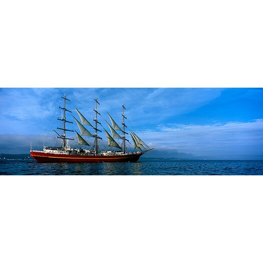 iCanvas Panoramic Tall Ships Race Photographic Print on Canvas