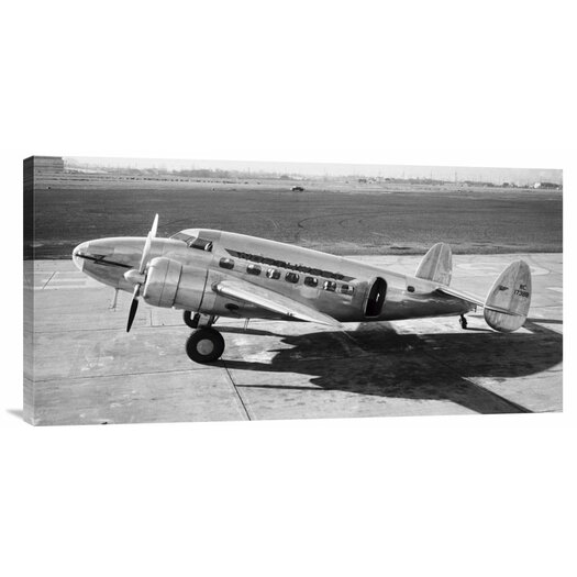 Bentley Global Arts 'Passenger Transport plane at Field, 1938' by Gordon S. Williams Photographic Print on Canvas