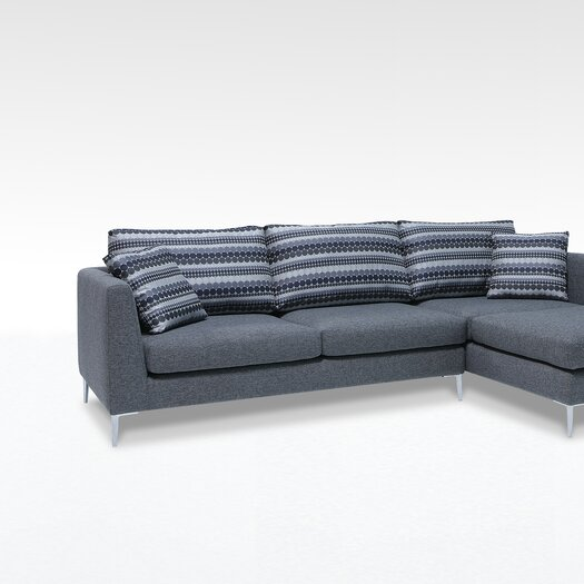 """Focus One Home James 84"""" Sectional"""