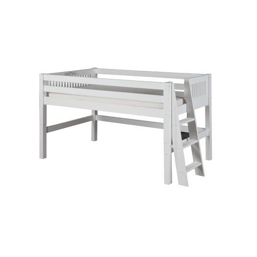 Camaflexi Twin Low Loft Bed with Lateral Ladder