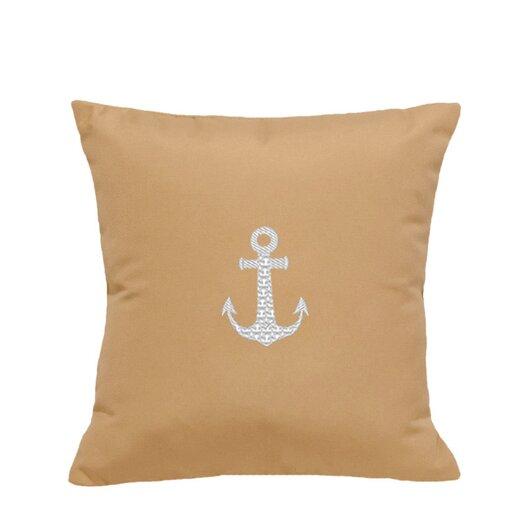 Nantucket Bound Anchor Embroidered Sunbrella Fabric Indoor/Outdoor Pillow