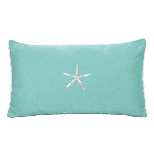 Nantucket Bound Starfish Embroidered Sunbrella Fabric Indoor/Outdoor Pillow