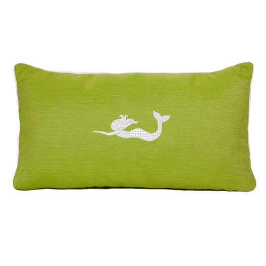 Nantucket Bound Sunbrella Beach Pillow with Embroidered Mermaid and Terry Cloth backs