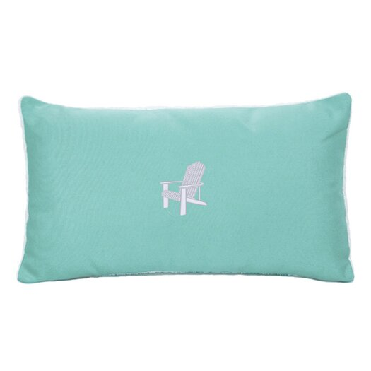 Nantucket Bound Sunbrella Beach Pillow with Embroidered Adirondack and Terry Cloth backs