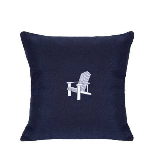 Nantucket Bound Sunbrella Lumbar Pillow With Embroidered Adirondack