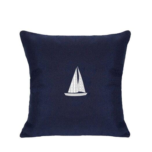 Nantucket Bound Sunbrella Lumbar Pillow With Embroidered Sailboat